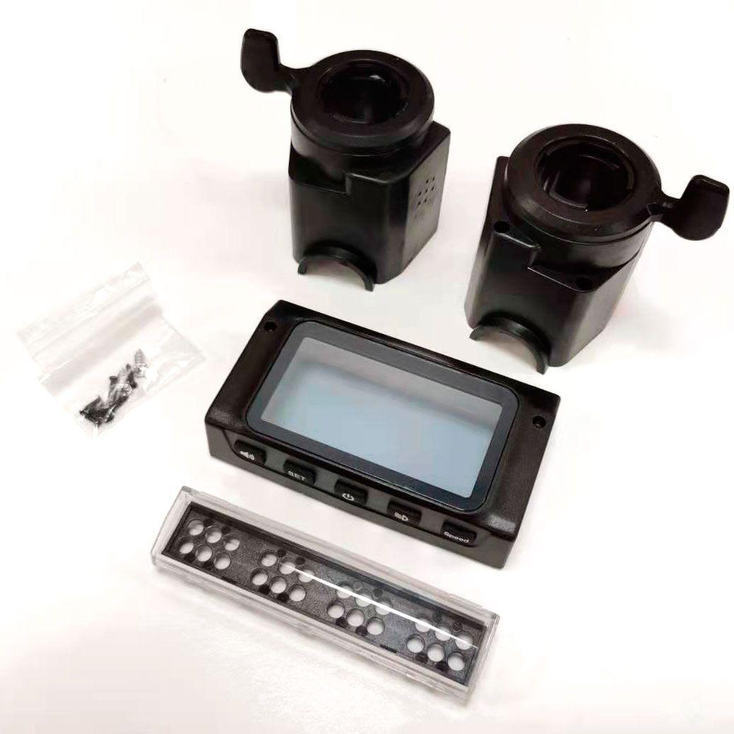 Kit carcasa pantalla y luz frontal + acelerador y freno