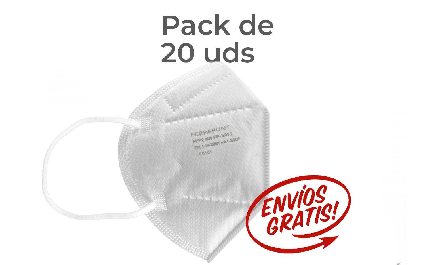 FFP2 NR Ferpa Punt Pack 20 *PORTES GRATIS*