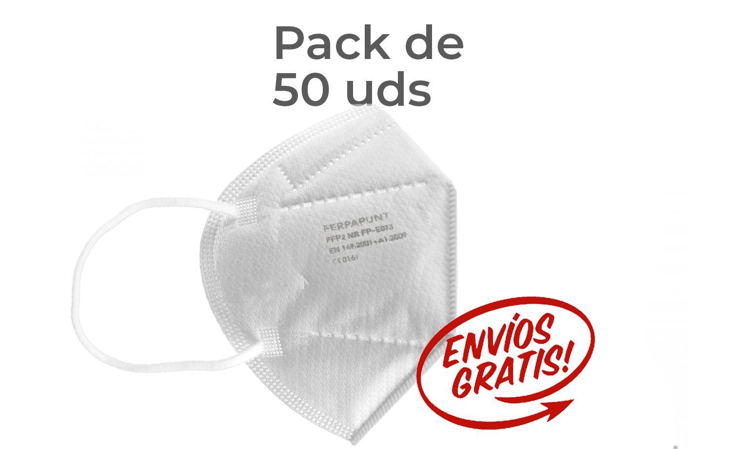 FFP2 NR Ferpa Punt Pack 50 *PORTES GRATIS*