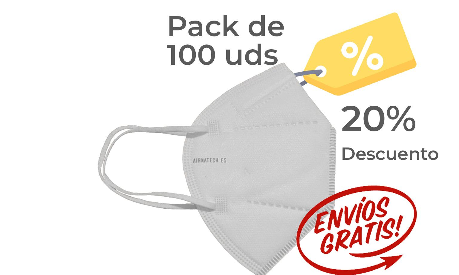 Pack 100 Airnatech Plus BLANCA *PORTE GRATIS