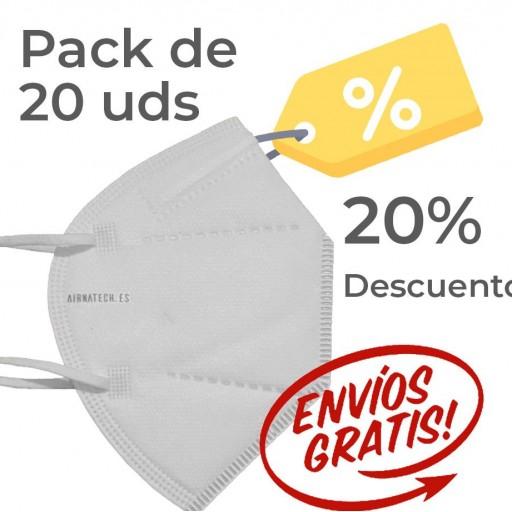 Pack 20 Airnatech Plus 99,90% BLANCA *PORTE GRATIS