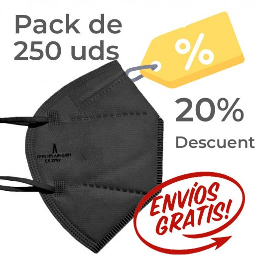 Pack 250 Airnatech Plus 99,90% NEGRA *PORTE GRATIS