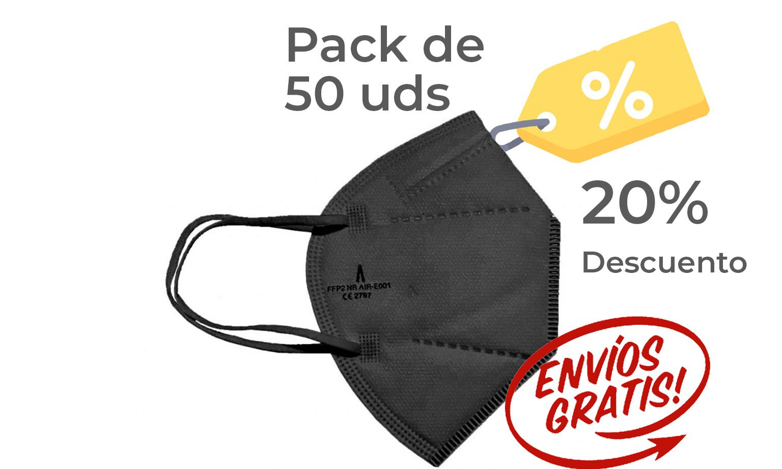 Pack 50 Airnatech Plus 99,90% NEGRA *PORTE GRATIS