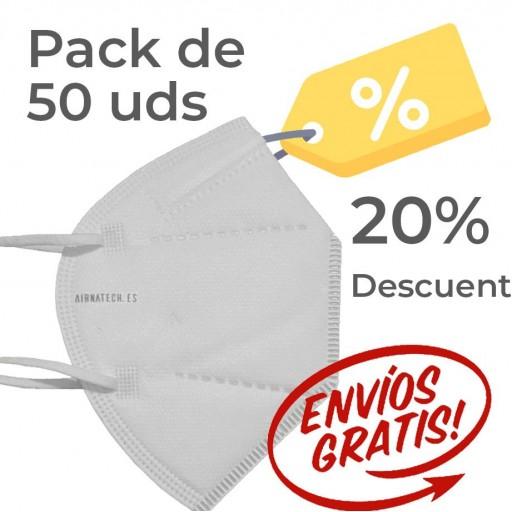 Pack 50 Airnatech Plus 99,90% BLANCA *PORTE GRATIS