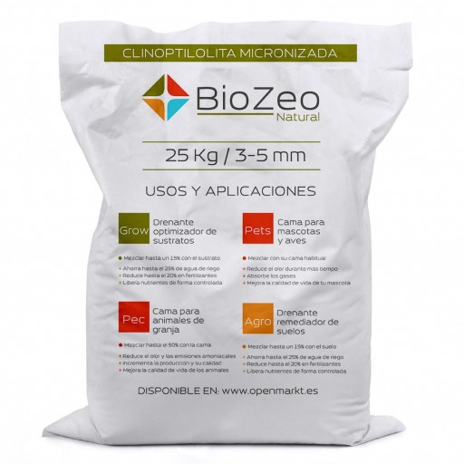 BioZeo NATURAL 3- 5 mm AGRO DRENANTE ACTIVO