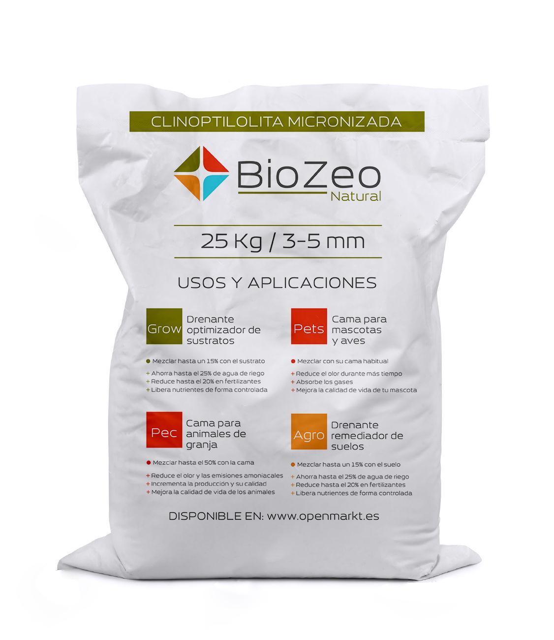BioZeo NATURAL 3-5mm  Zeolita Clinoptilolita