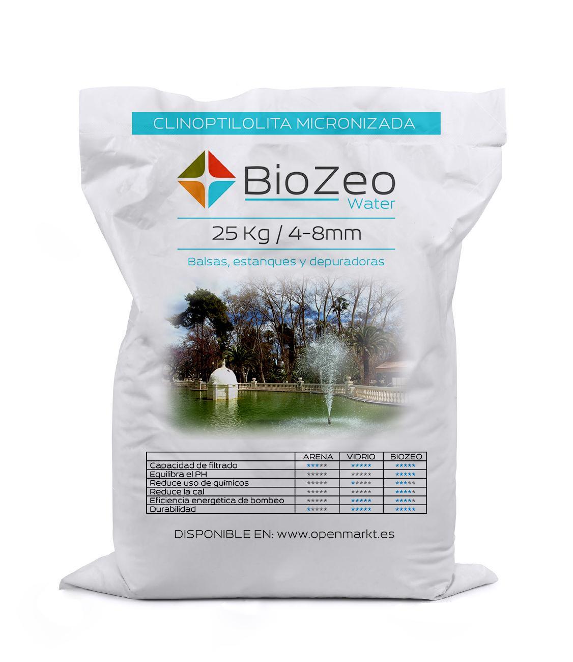BioZeo WATER  4-8 mm. MEDIO FILTRANTE NATURAL ACTIVO