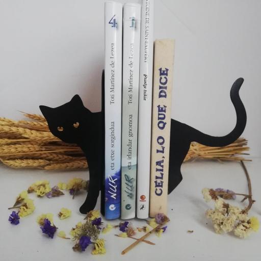 sujeta libros gato [1]