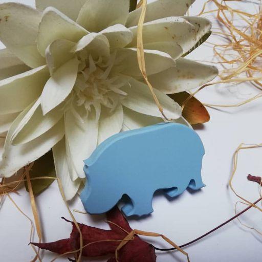 tirador/colgador hipopótamo
