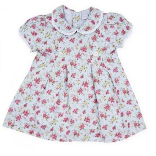 vestido villela florecitas cruzado. T.12 meses. [2]