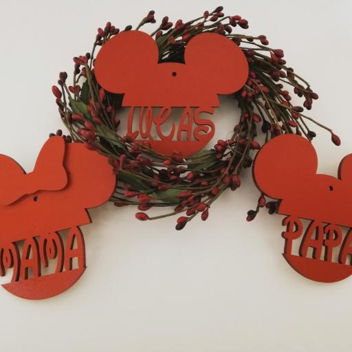 bolas navidad mickey/ minnie con nombre