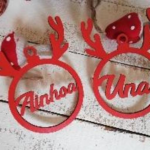 bola navidad con nombre