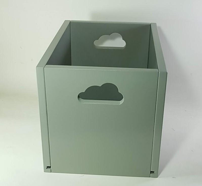 caja  juguetero con nube calada