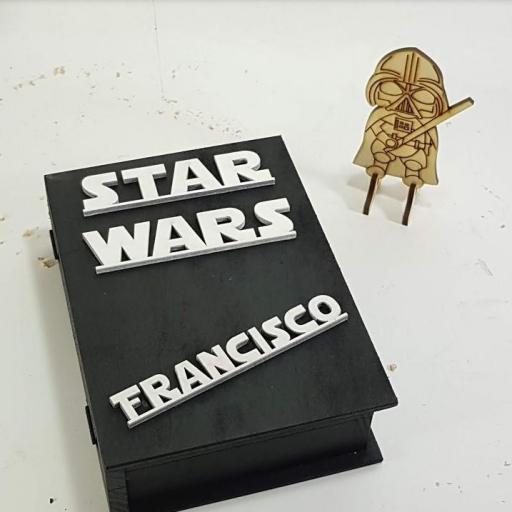caja libro star wars personalizada