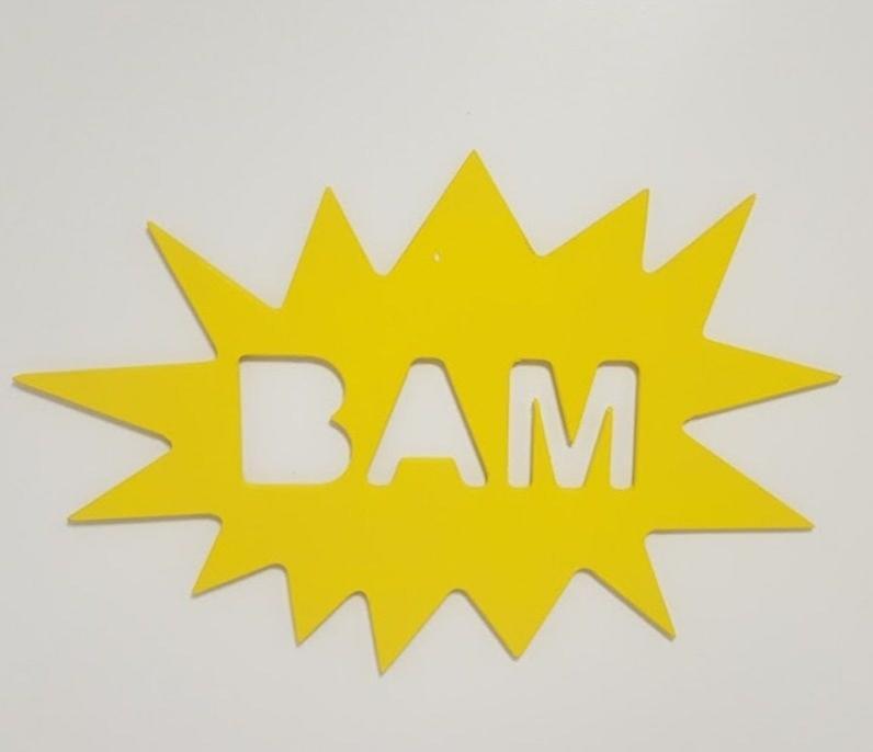 """cartel cómic """"BAM"""""""