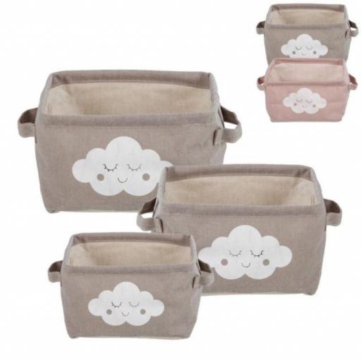juego 3 cestas nubes