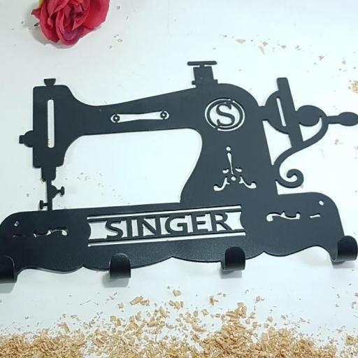 colgador hierro máquina de coser