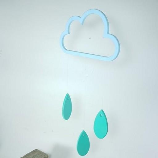 móvil nube con gotas