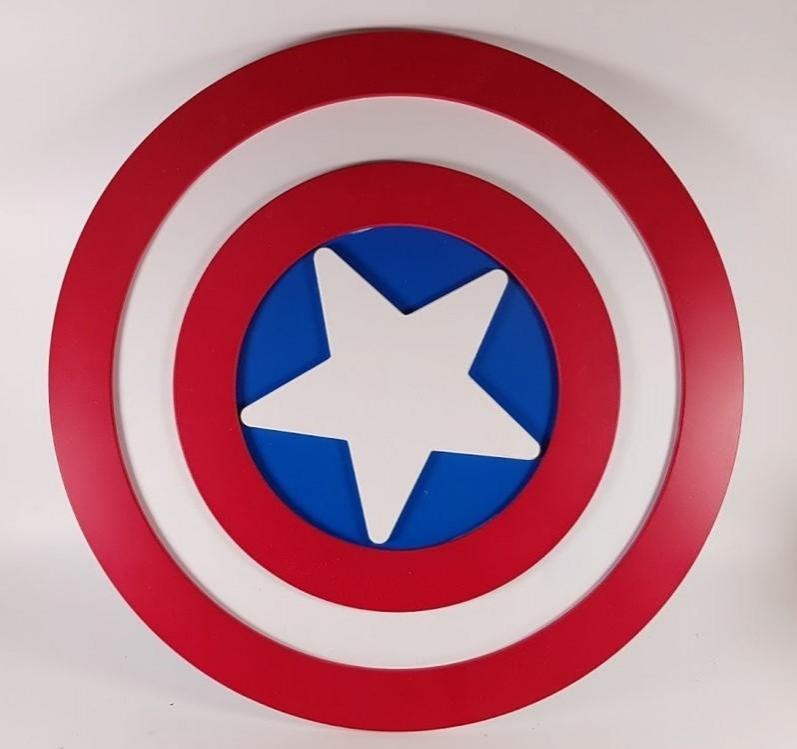 escudo Capitán América 3D