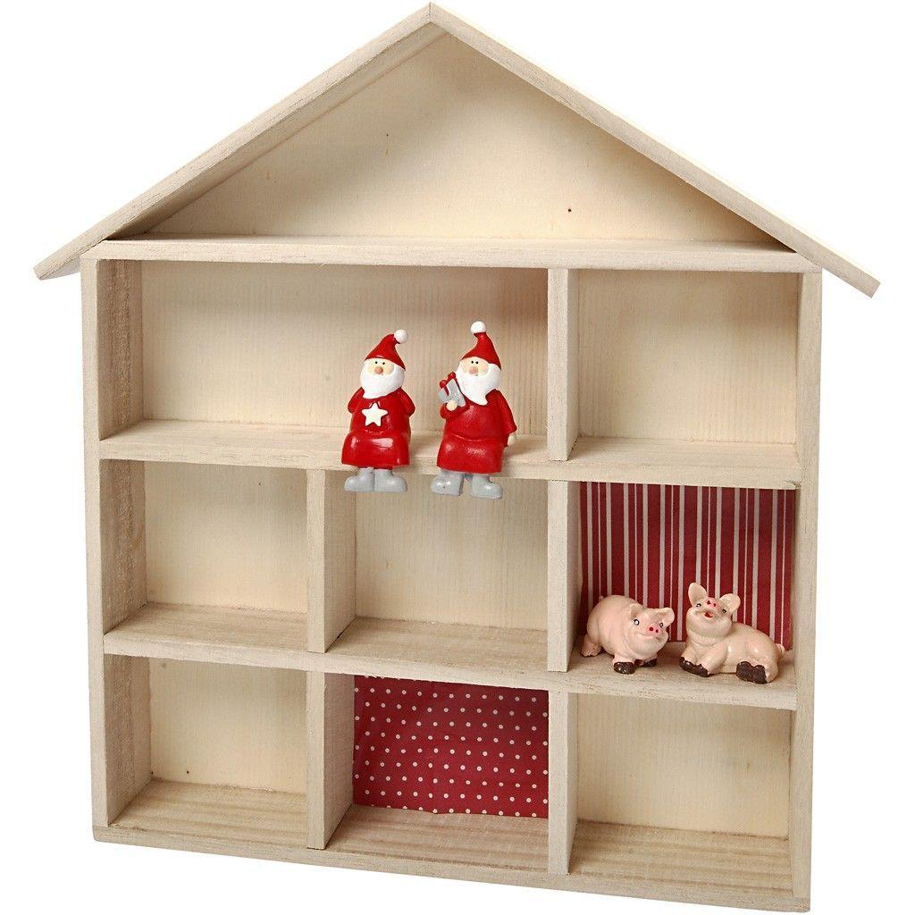 estantería casita madera