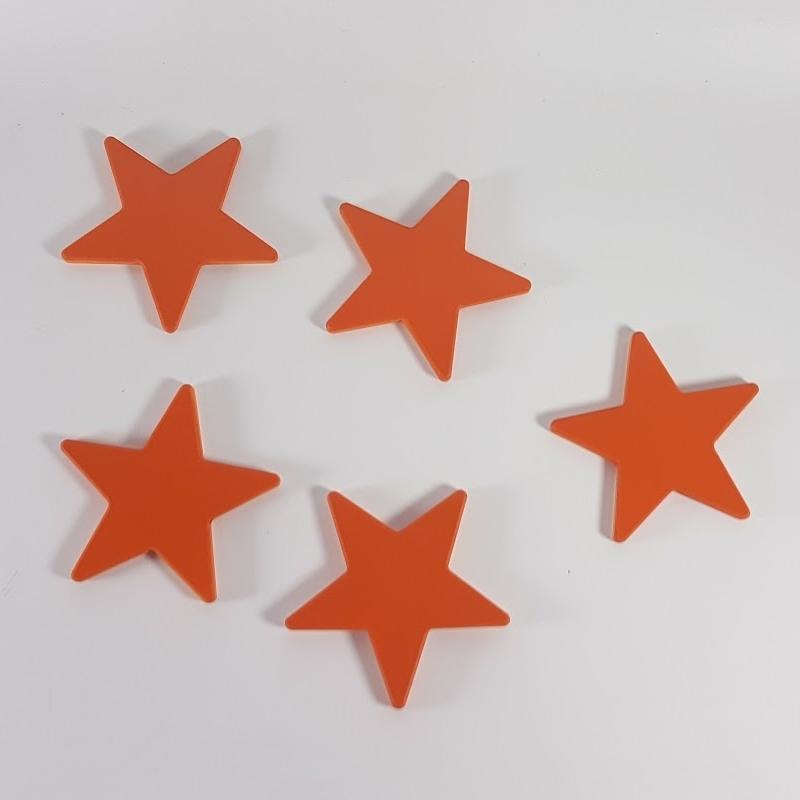 pack 5 estrellas pared
