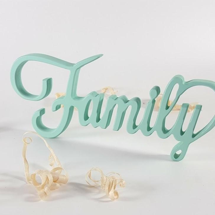 letras decorativas Family