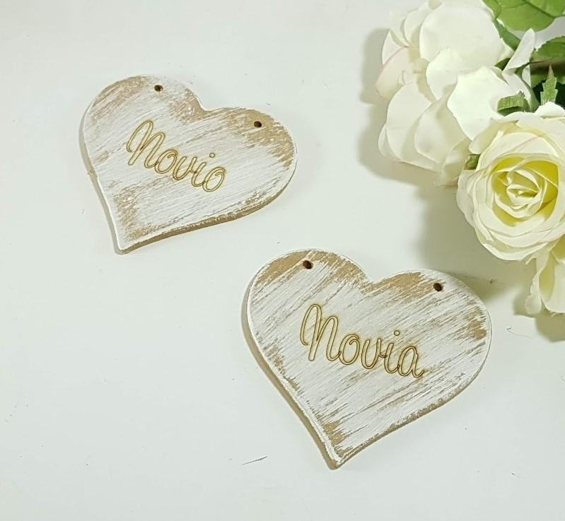 letrero corazón grabado