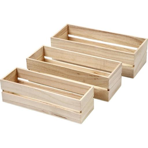 pack 3 cajas madera