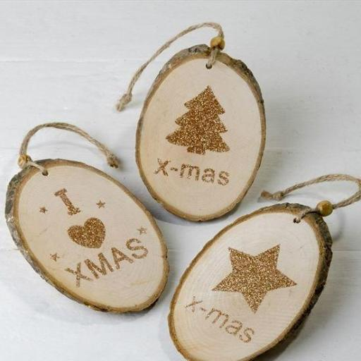 rodajas madera navidad