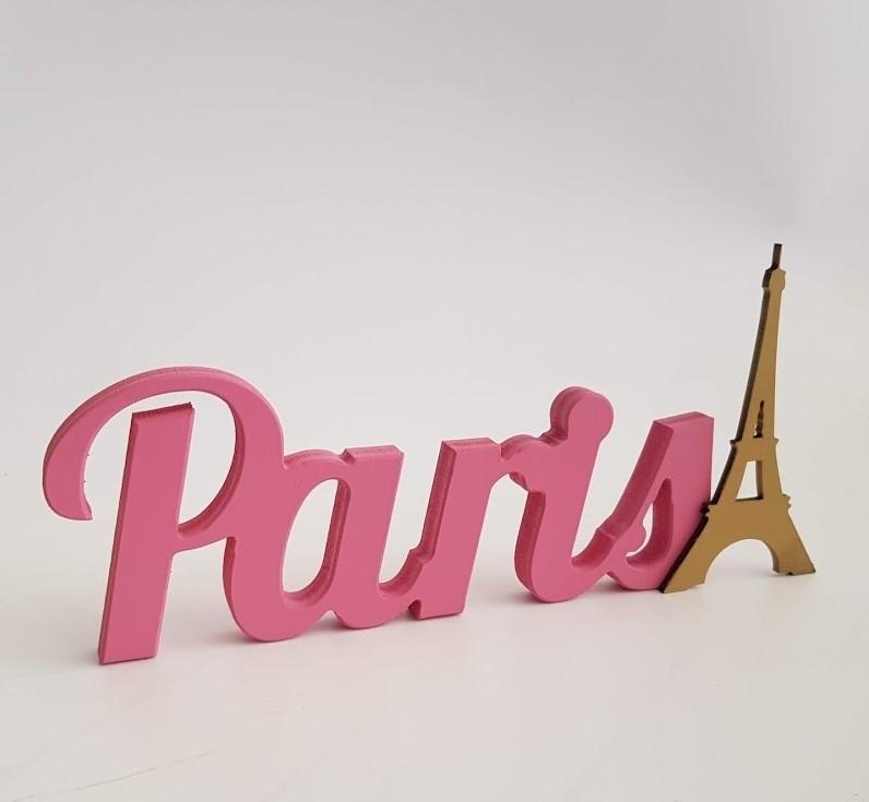 palabra París decorativa
