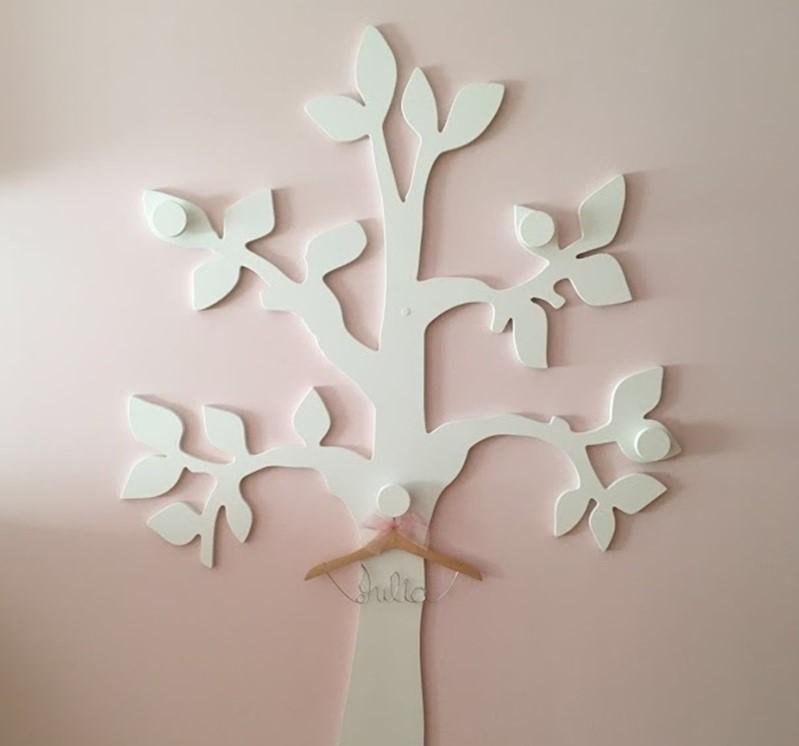 perchero árbol de pared