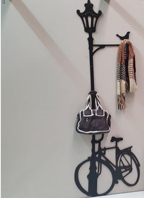 perchero farola bicicleta