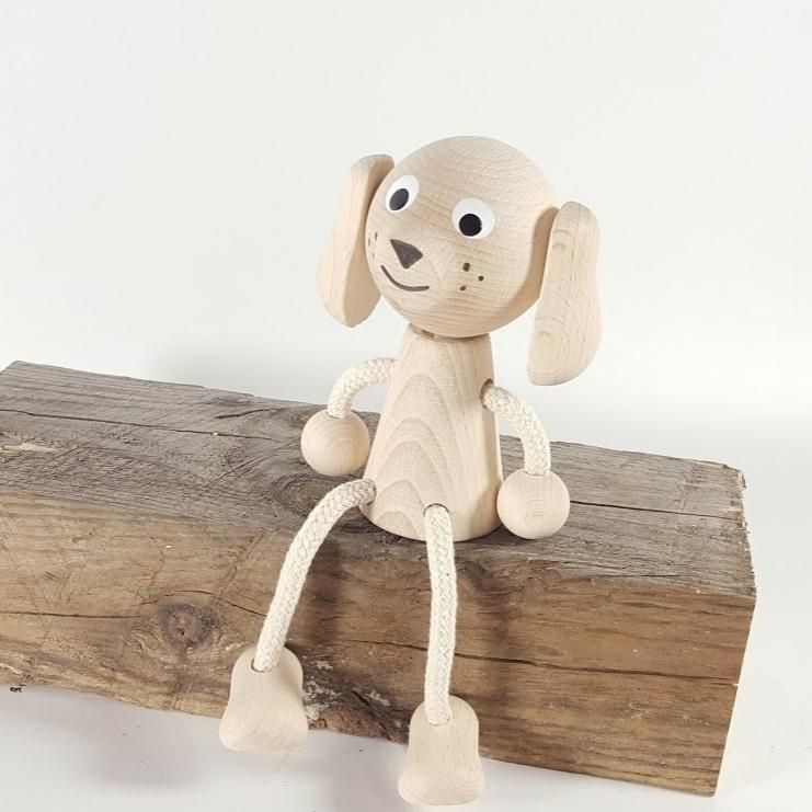 perro de madera