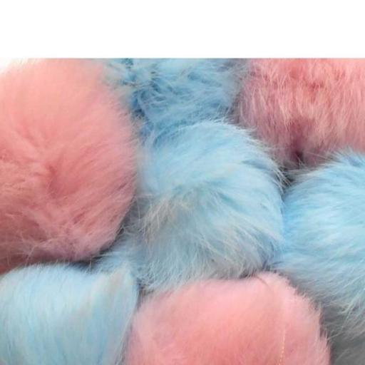 pompón piel conejo colores variados [1]