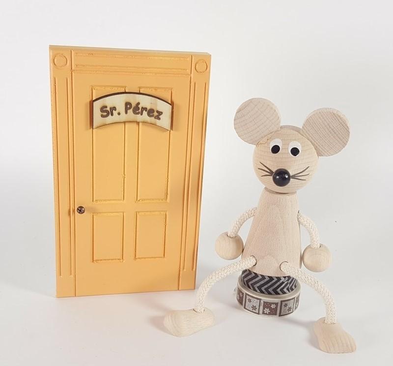 ratoncito Pérez de madera