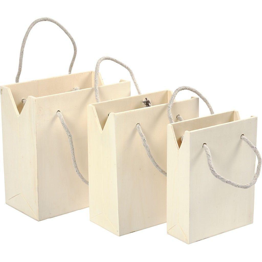 set bolsas madera
