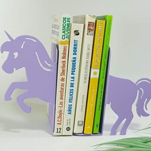 sujeta libros unicornio