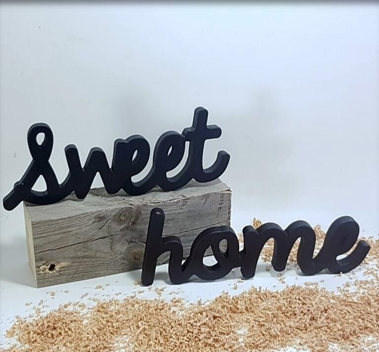"letras decorativas ""sweet home"""