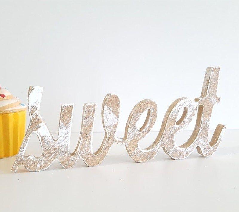 """Sweet"" de madera"