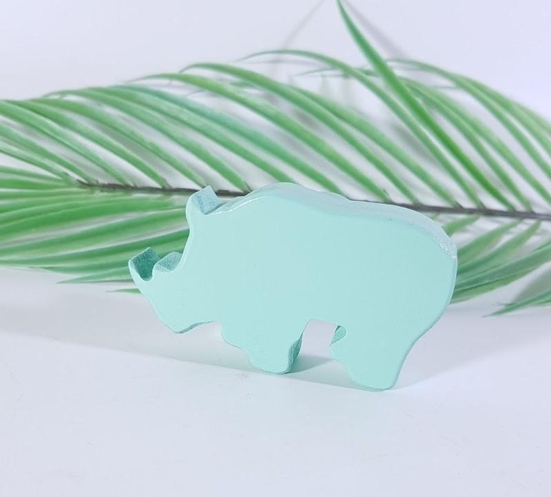 tirador / colgador rinoceronte