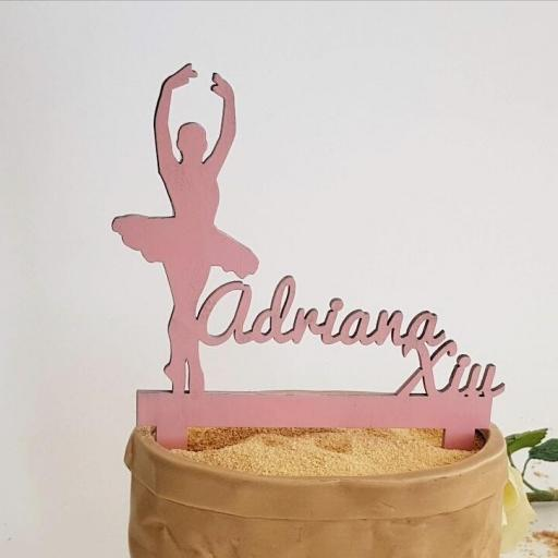cake topper bailarina personalizado