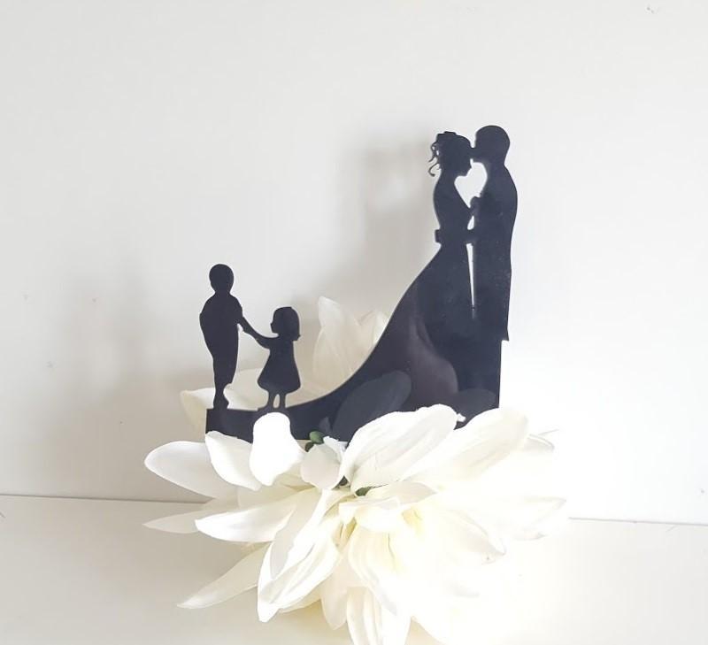 cake topper boda en familia