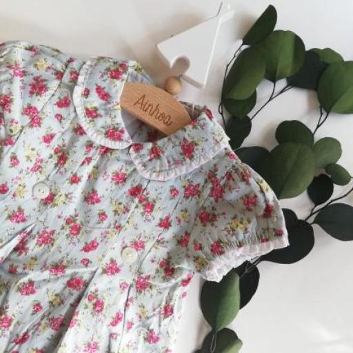vestido villela florecitas cruzado. T.12 meses.