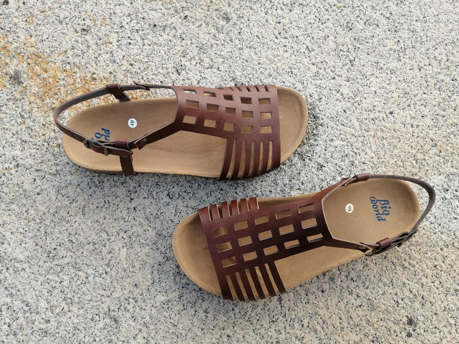 ECKHART marrón, Colección 100% HECHO A MANO, sandalias veganas, sandalias veganas mujer, calzado vegano, sandalias de tacón bajo, sandalias bioworld, vegan shoes.