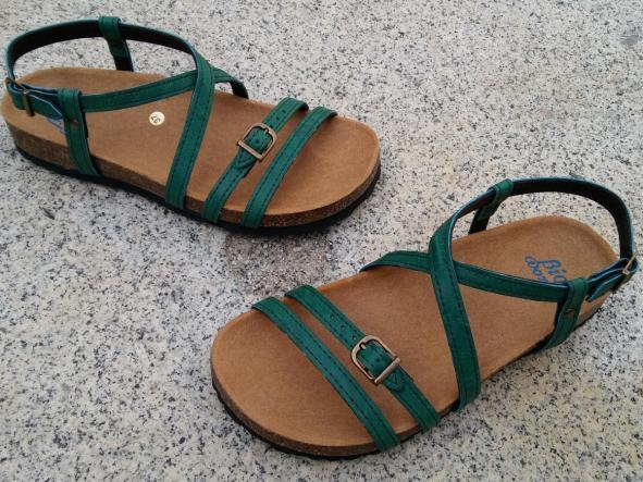 JARDIN VERDE, sandalias veganas, sandalias veganas mujer, calzado vegano, sandalias de tacón bajo, sandalias bioworld, vegan shoes.  [3]