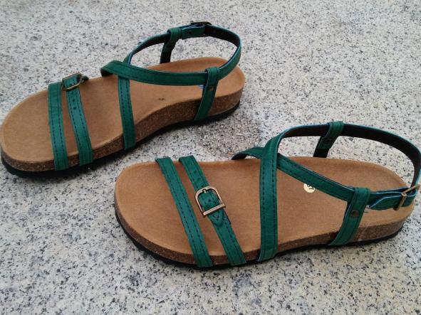 JARDIN VERDE, sandalias veganas, sandalias veganas mujer, calzado vegano, sandalias de tacón bajo, sandalias bioworld, vegan shoes.  [1]