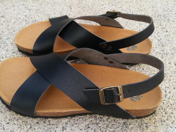 MEXICO negro, sandalias veganas, sandalias veganas mujer, calzado vegano, sandalias de tacón bajo, sandalias bioworld, vegan shoes, sandalias negras.  [3]