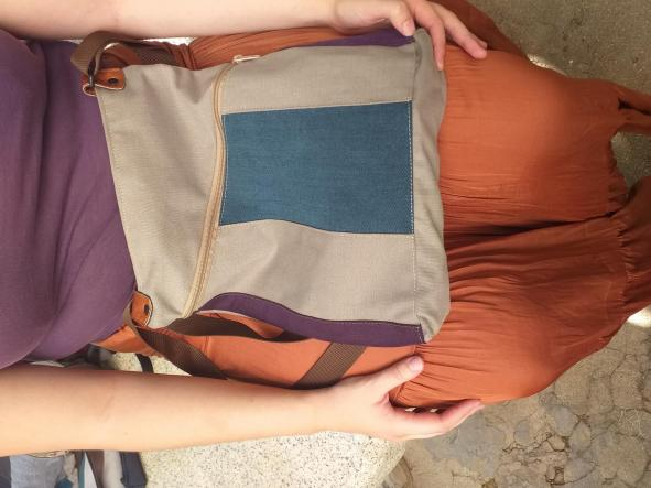 BACKPACK TRIANGULO BLUE and PURPLE [1]