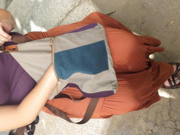 BACKPACK TRIANGULO BLUE and PURPLE [2]