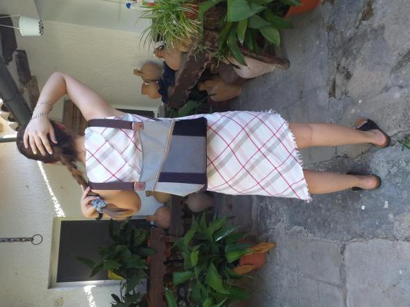 BACKPACK TRIANGULO GRAY and PURPLE [2]